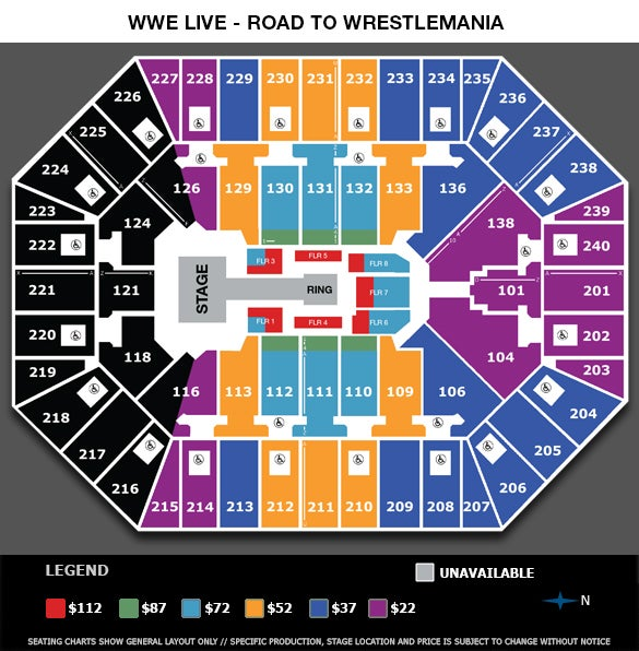 Wwe Live Road To Wrestlemania Target Center