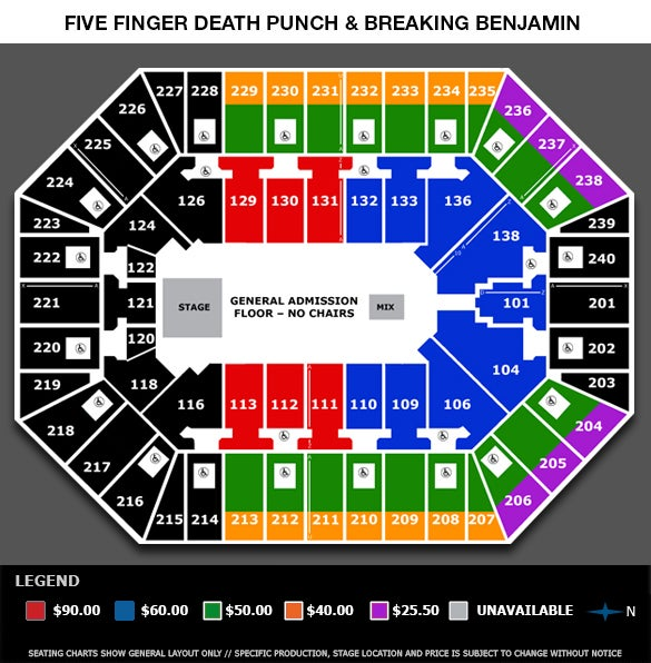 Seating View Seating Chart