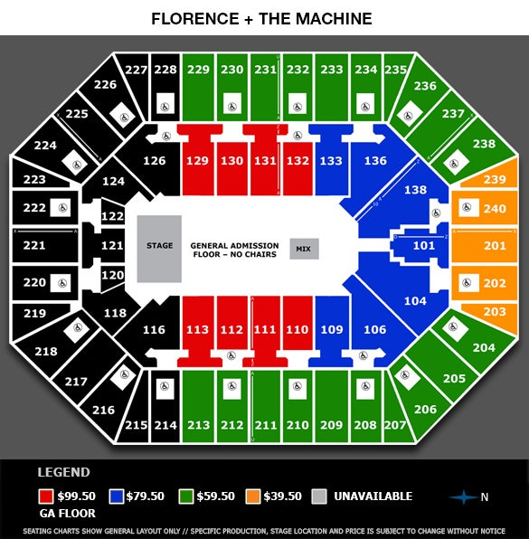 Seating View Chart