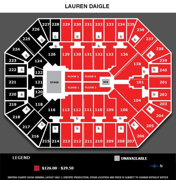 Lauren Daigle Seating Chart